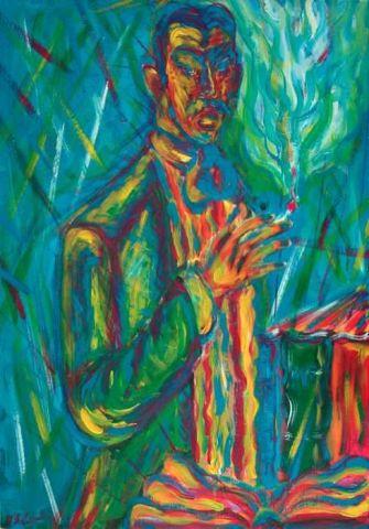 L'Attesa - 2001   Acrilico su Tela