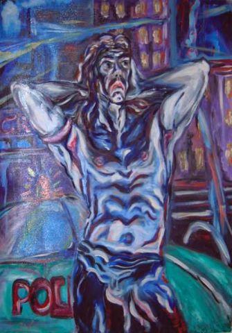Urlo Urbano - 2003   Olio su Tela